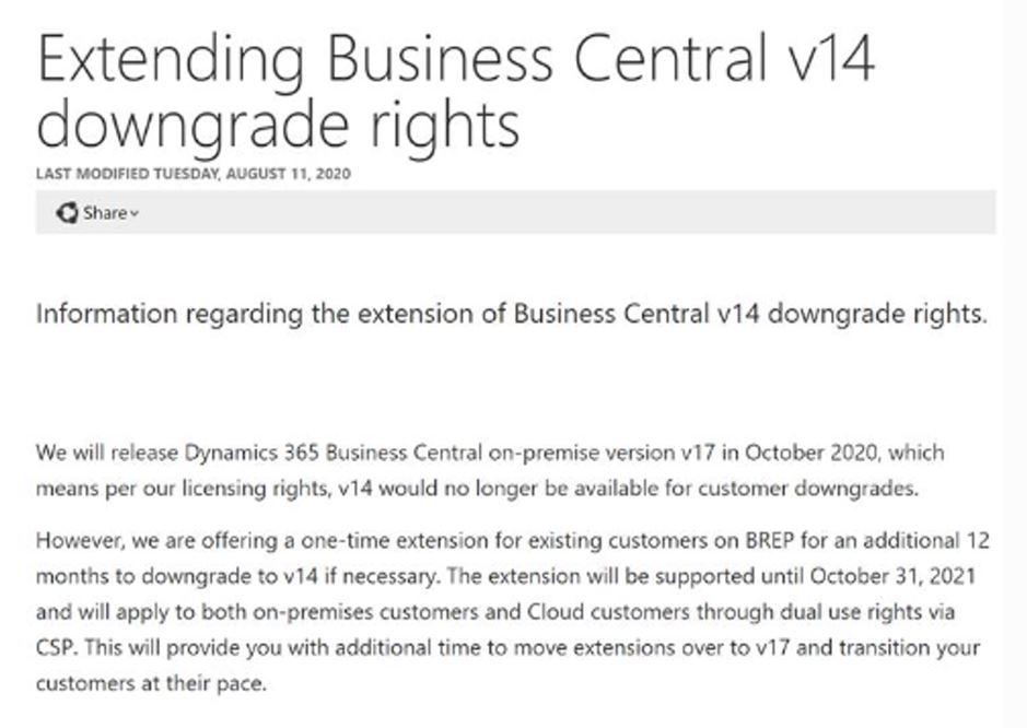 dynamics 365 business central on-prem