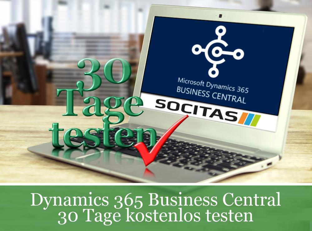 business central 30 Tage kostenlos testen