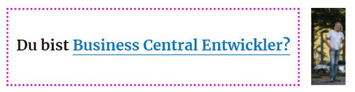 business central entwickler